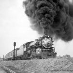 The Southern Crecent leaving Charlottsville, VA southbound 9/10/1938;  Class P-S-4 Richmond, 1926, C/N 66883, retired 2/1952
