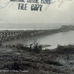 The photo shows the Shepherd's Landing emergency bridge across the Potomac River built during World War II to provide a second crossing into Washington, D.C.Copyright © 2020 DCNRHS www.dcnrhs.org
