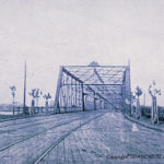The bridge also was for cars. At the time it was built the bridge was touted as the way to solve all Northern Virginia congestion problems. Photo from Lee Rogers Collection