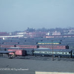 This is the freight yard of the B&O in Washington, D.C. known as Eckington Yard.  During 1949 Inaugural the yard was converted to parking for Pullman passenger cars for use as hotel space.
